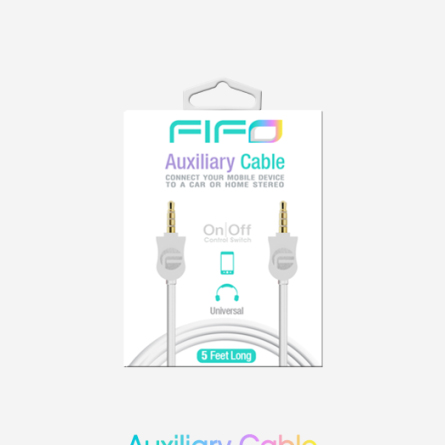 FIFO Colors Aux Cable